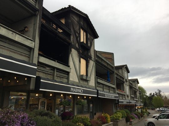 A fire did heavy damage to two residential units at Winslow Green on Bainbridge Island.