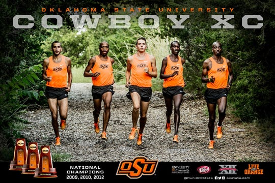Shane Moskowitz, at left, was part of a national championship cross country team at Oklahoma State University.