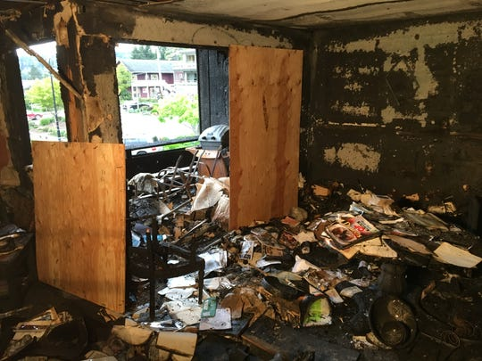 A fire destroyed the kitchen and living room of the home of Tom and Jill Jennings.