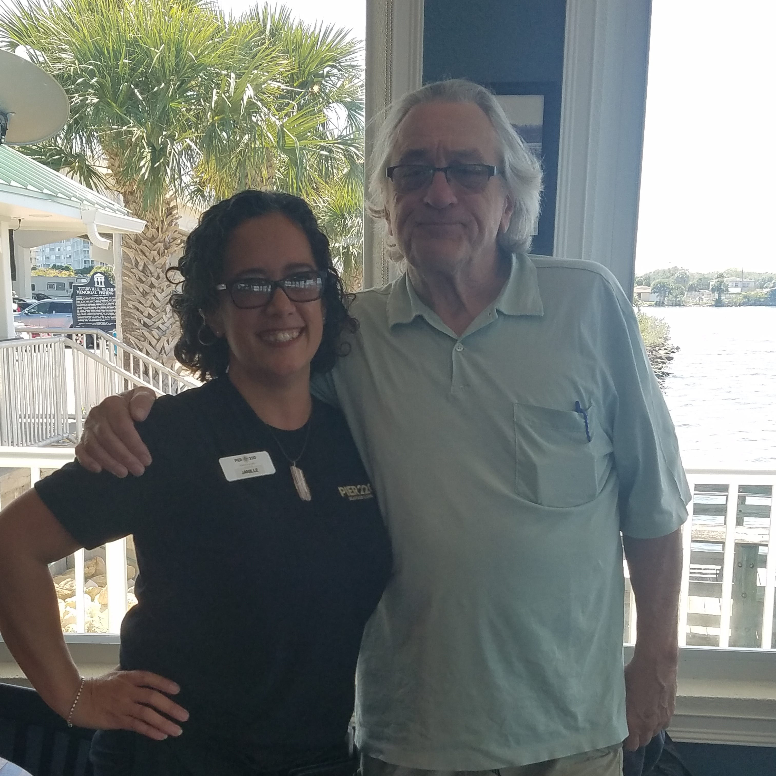 """Janille Eclavea, a server at Pier 220, waited on Robert De Niro and his family at the Titusville restaurant. Eclavea called her super famous guest """"really nice."""""""