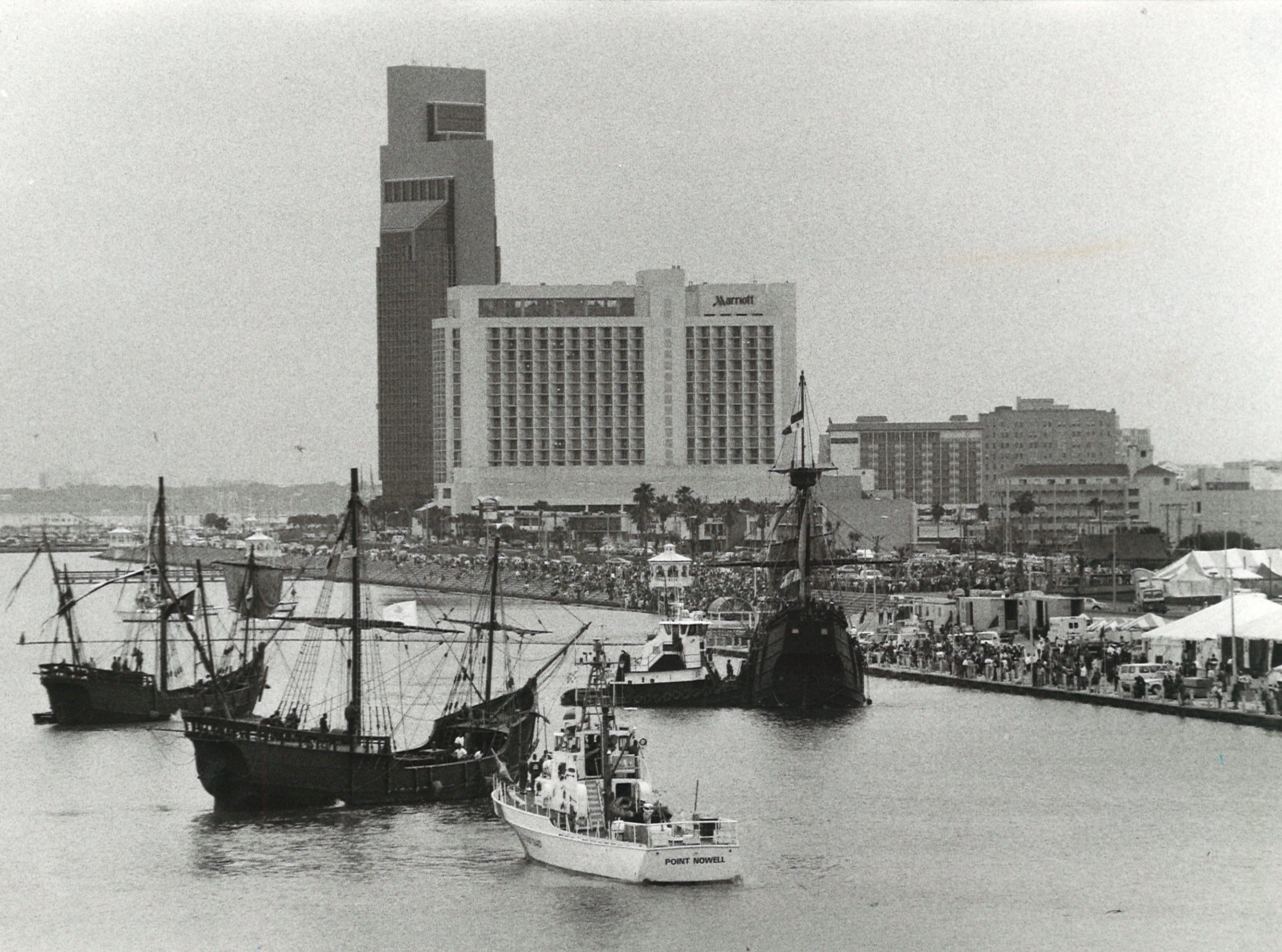 The Columbus ships, known as Los Barcos at the time, sailed into Corpus Christi in March 1992 as part of the 500th anniversary of Columbus' voyage to the Americas.