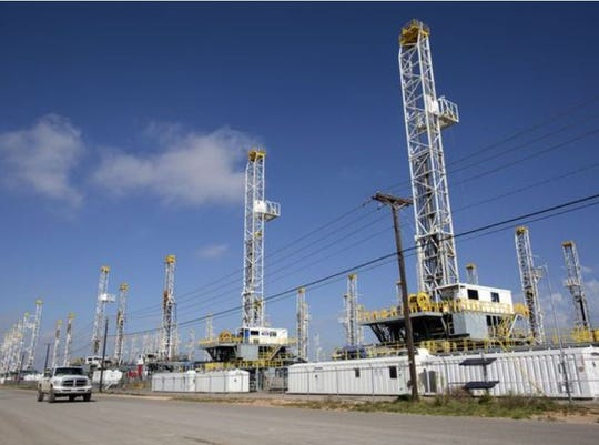 Oil drilling in Odessa, Texas