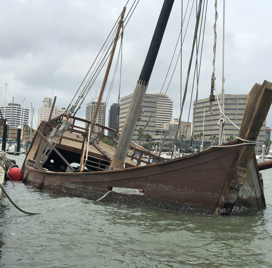 La Niña replica ship sinks in Corpus Christi Bay: Here's what's next for this last ship