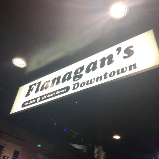 Flanagan's Downtown sign