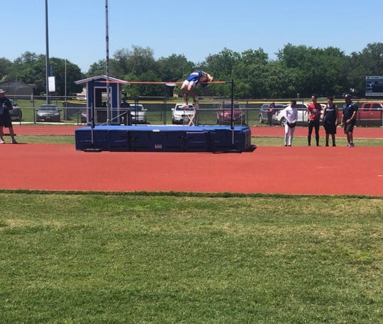 Odem's Spencer Bigner heads to the Region IV-3A meet with the top clearance. He set a personal best of 6-foot-8 earlier this season.