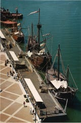 People came in droves to tour the replica Columbus fleet in Corpus Christi in '92. But they've had a rocky time since permanently mooring here in 1993