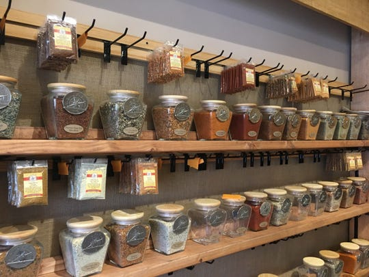Custom-blended spices line the walls of the Spice & Tea Exchange in Haddonfield.