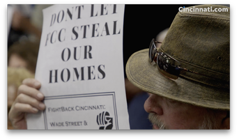 Members of the West End community speaks out against being displaced for FCC stadium.