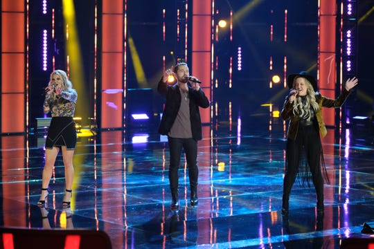 """Live Cross Battles featured The Bundys  performing """"The Letter"""" on NBC's """"The Voice."""