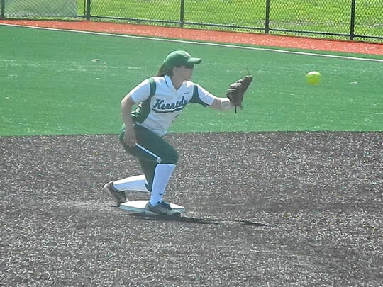 The South Brunswick softball team plays at J.F. Kennedy on Tuesday, April 23, 2019.