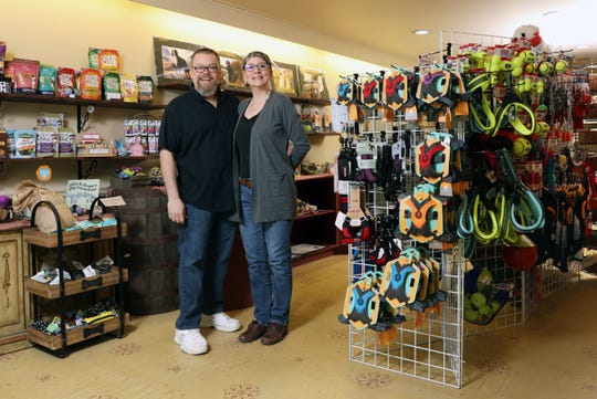 Brad and Cathy Fuller own Good Boy Bakery, a dog treat bakery in Roscoe Villiage in Coshocton. The pair make the treats they sell at the store, which also features a variety of dog supplies like leashes and harnesses.