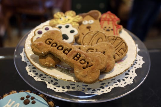Brad and Cathy Fuller make the treats they sell at Good Boy Bakery in Coshocton.