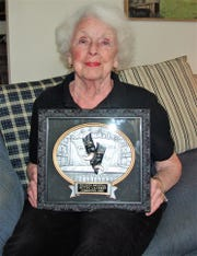 Bettsy Gauerke of Coshocton was recently inducted into the the Ohio Community Theatre Association Hall of Fame for her years of dedication to the Coshocton Footlight Players as an actor, director and board member.