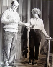 """Jim and Bettsy Gauerke performing in """"Last of the Red Hot Lovers"""" at the Triple Locks Theater."""