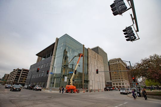 The new Polk County criminal courthouse at 110 6th Ave. Tuesday, April 23, 2019.