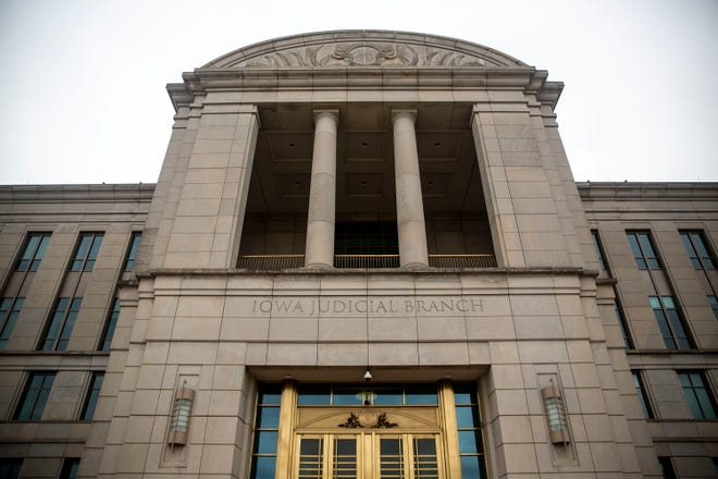 Iowa's Supreme Court and the Iowa Judicial Branch Building in Des Moines.