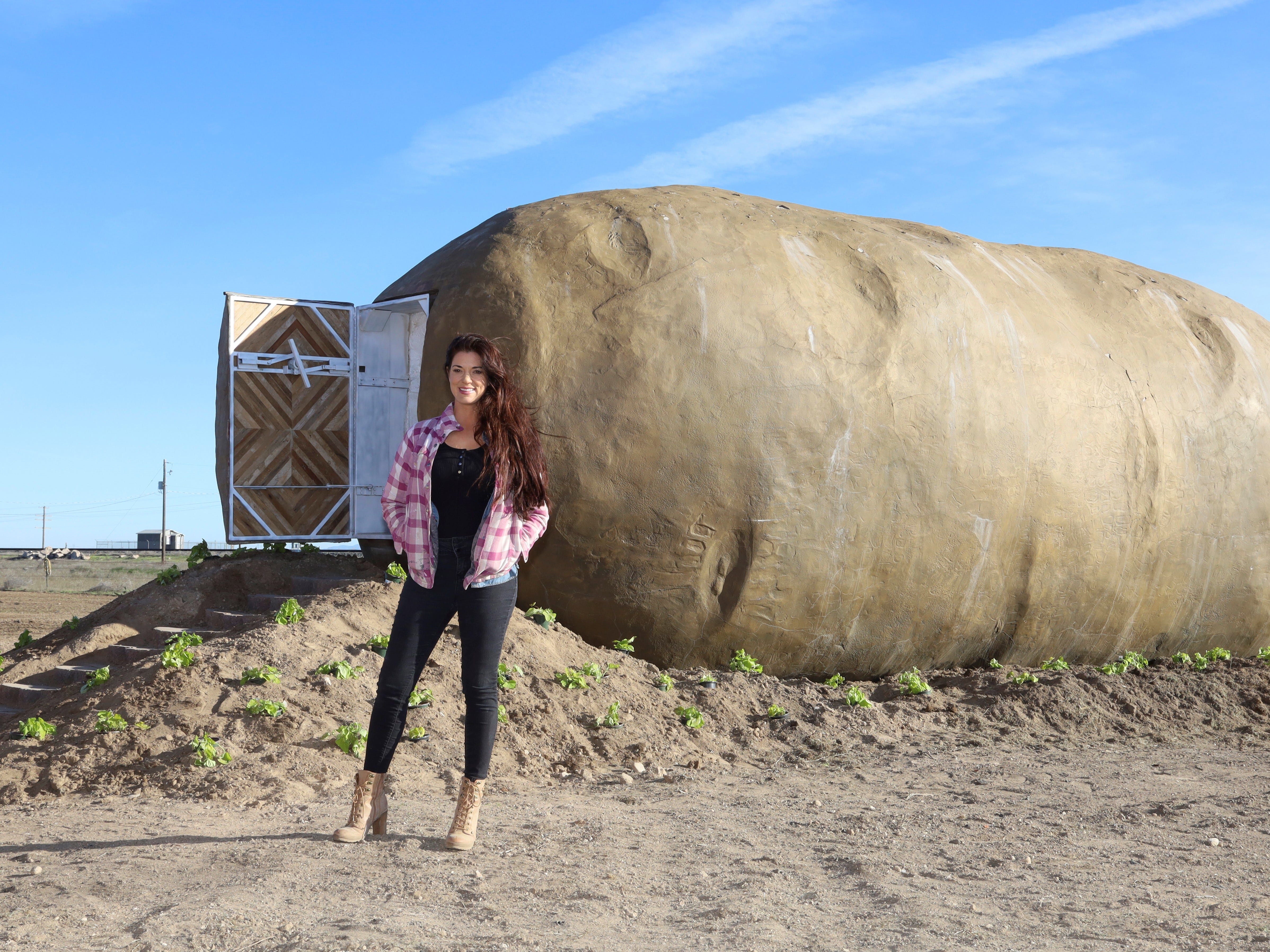 You can spend the night in a giant potato in Idaho