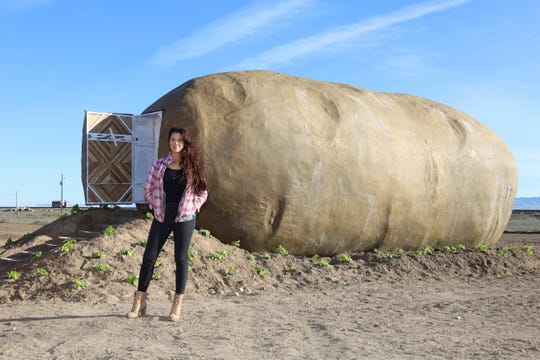 Kristie Wolfe owns and designed the Big Idaho Potato Hotel, which re-purposed a massive potato structure.