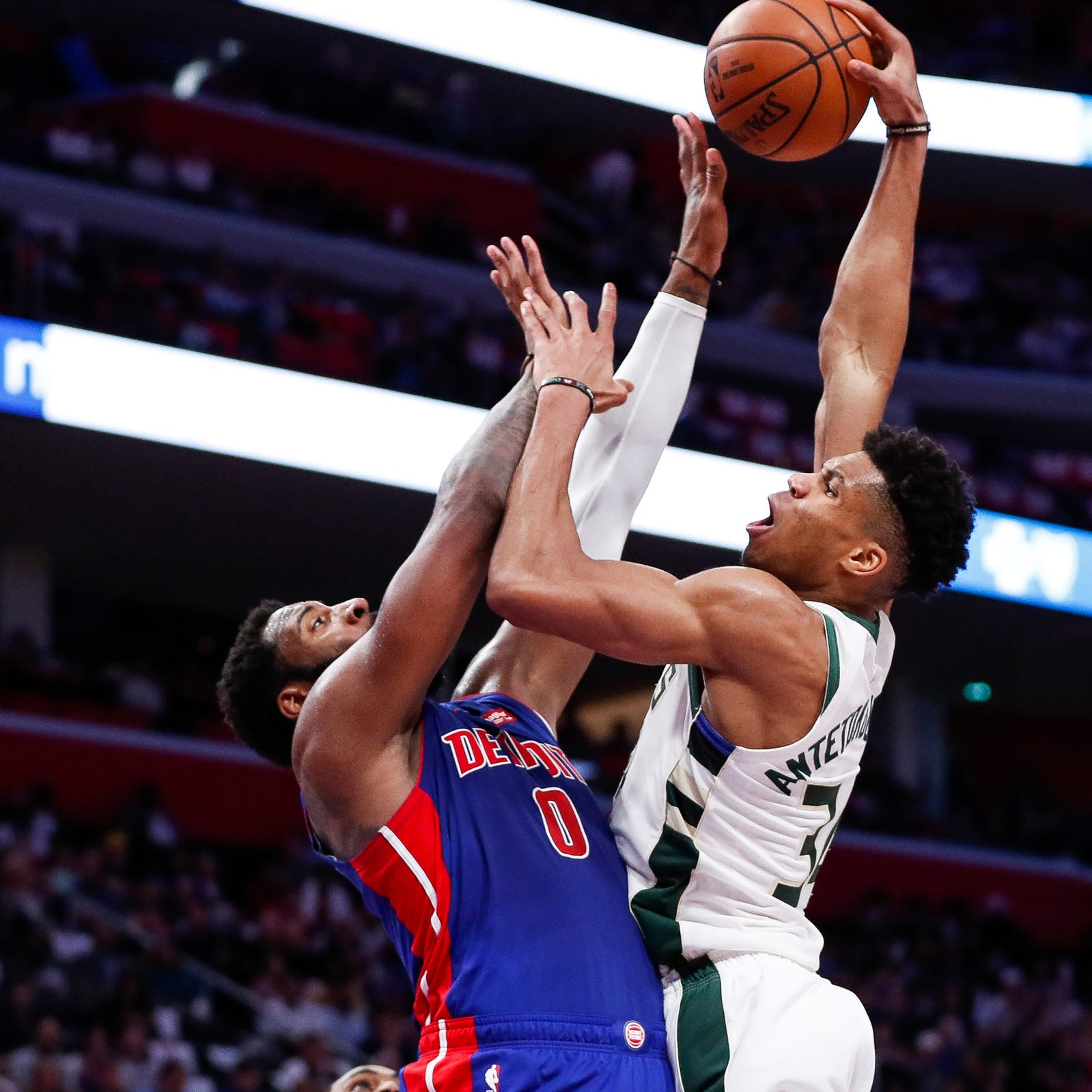 Pistons set NBA record for playoff losses, swept by Bucks, 127-104, in Game 4