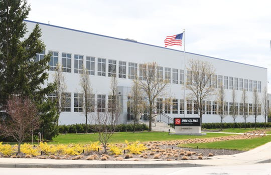 Exterior of American Axle building 2020 Holbrook (just east of 1840) on April 23, 2019.