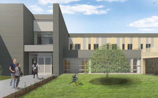 This is an artist's rendition of what a new medical-surgical inpatient wing at Schuyler Hospital will look like.
