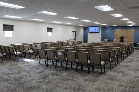 New flooring, walls and LED lightning are among the changes made at the Jehovah's Witness Kingdom Hall, 1509 Cedar St., in Fremont.