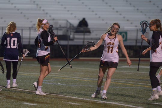The Rocky Mountain girls lacrosse team hosts Evergreen at 5:30 p.m. Friday in its final regular season game.