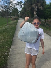 Be like Addison: Join the #trashtagSWFL challenge