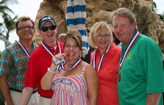 As Mayor of Fort Myers Beach, Larry Kiker was seen at many beach events, such as a Chili Cook-off fellow judges Drew Sterwald, Bill Wood, Gina Birch and  Rose O'Dell King.