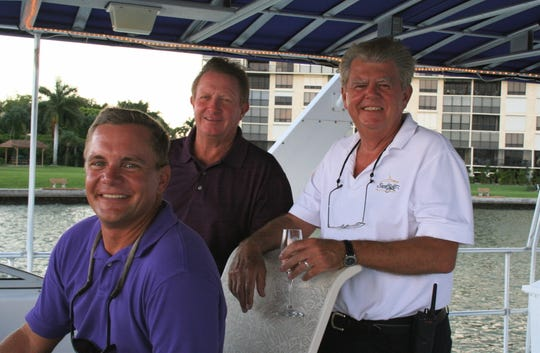 Thelate Lee County Commissioner Larry Kiker was a boat captain for years and joined Capt. Jon Florell , and Joe Yerkes aboard the yacht, The Mother Ship