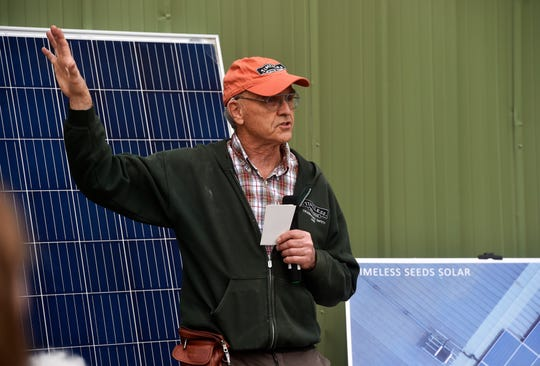 David Oien, co-founder and CEO of Timeless Seeds in Ulm, talks about the addition of solar panels that will help power his production facility.