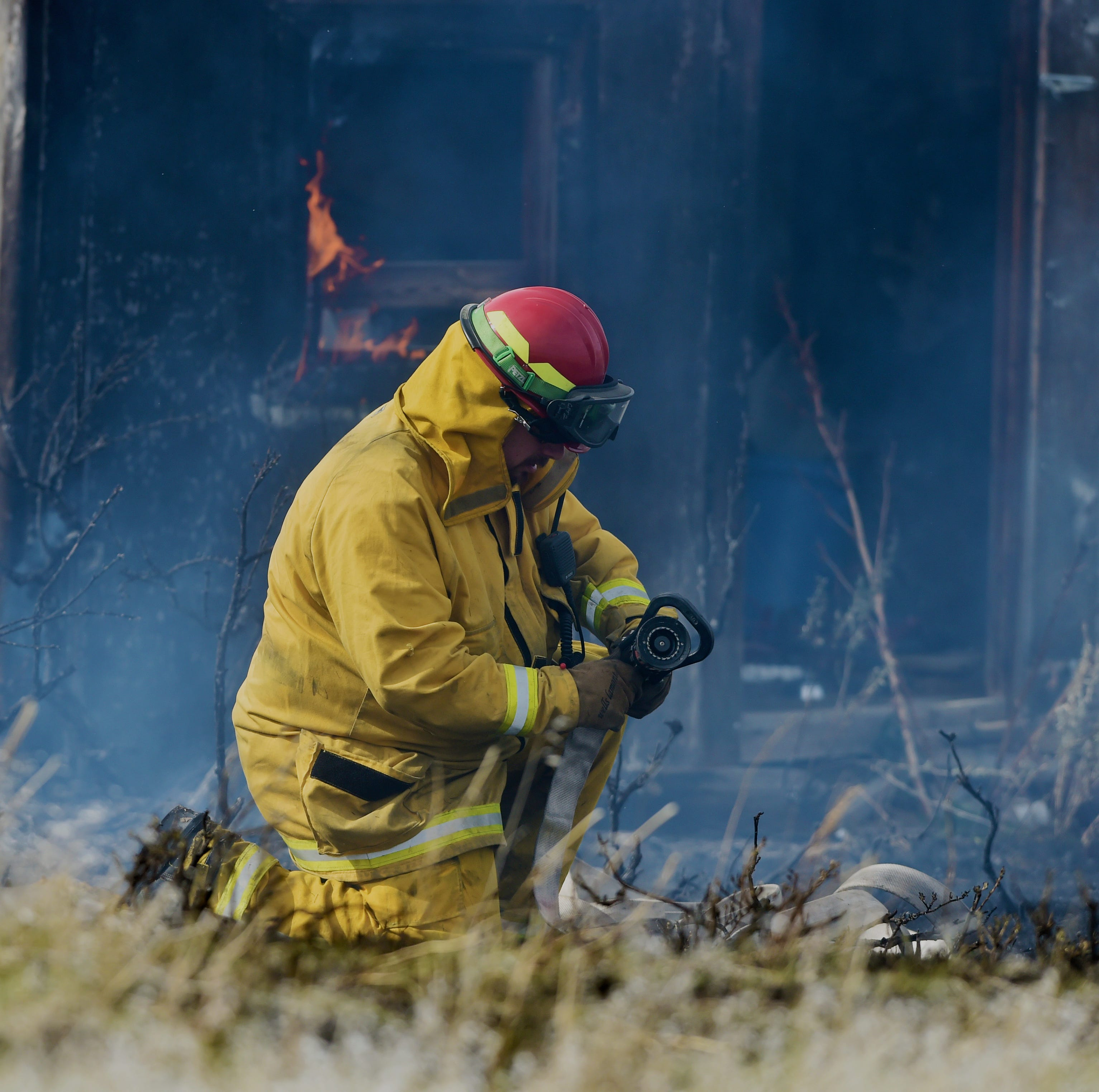 Grass fire north of Great Falls contained