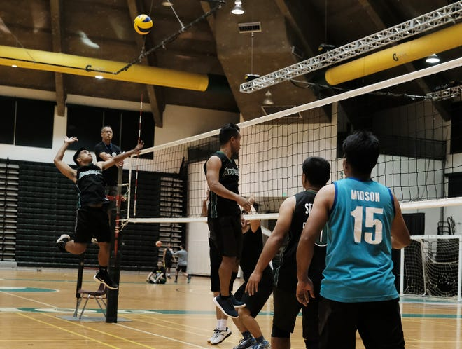 Guam Community College beat the University of Guam Tridents in a tight five-set match Monday at the UOG Calvo Field House to win the first UOG-GCC World Series of Volleyball.