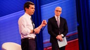 CNN Presidential Town Hall with Mayor Pete Buttigieg moderated by Anderson Cooper live from Manchester, New Hampshire, April 23, 2019.