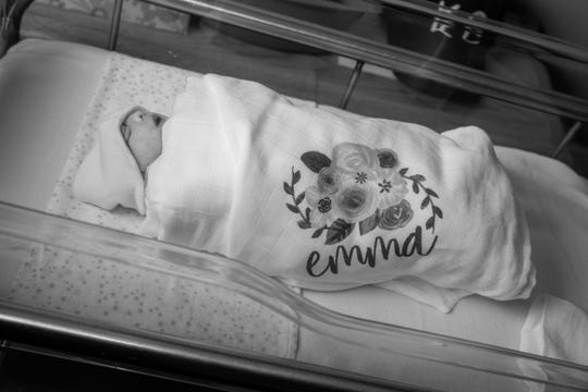 Emma Noelle Umstattd was born March 15 and lived just 21 minutes. Her mother, WISH-TV anchor Brooke Martin, shared in November that Emma had been diagnosed with anencephaly, a rare and fatal birth defect.