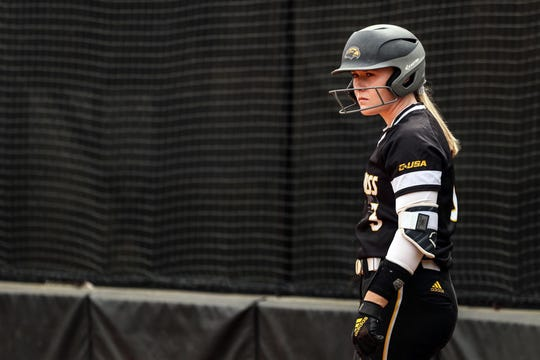 Southern Miss senior first baseman Sarah Van Schaik spent the first two years of her college softball career playing for Ole Miss.