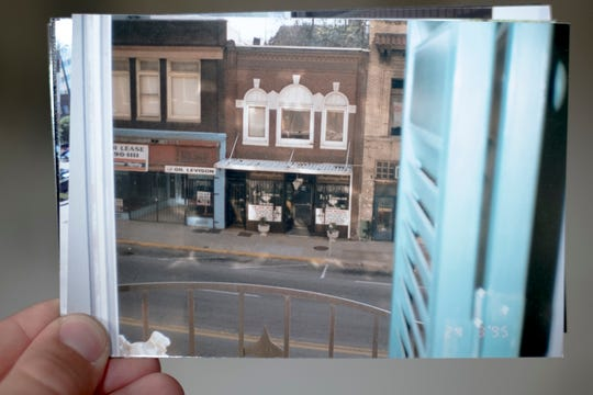A view of the 100 Block of Gay Street, as seen in 1995 from Patti Smith's Commerce Building window.