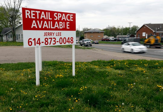 Traffic drives past an empty lot at the corner of Ewing and Main streets Tuesday afternoon, April 23, 2019, in Lancaster. City officials say they have approved plans for a Chipotle restaurant to be built at the location, however, a representative from the restaurant chain says there are currently no plans for a second Lancaster location.