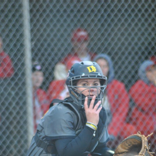 Former Liberty Union standout Kelly Mix has 128 career hits for the Ohio Dominican University softball team.