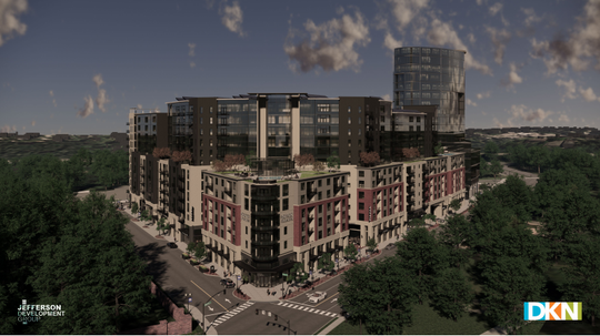 A new rendering of the One Park project across from Cherokee Park.