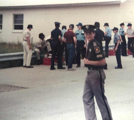 At age 15, Jim West worked with the Eaton County Sheriff's Department as an Explorer, an affiliate of the Boy Scouts of America. Photo is circa 1984.