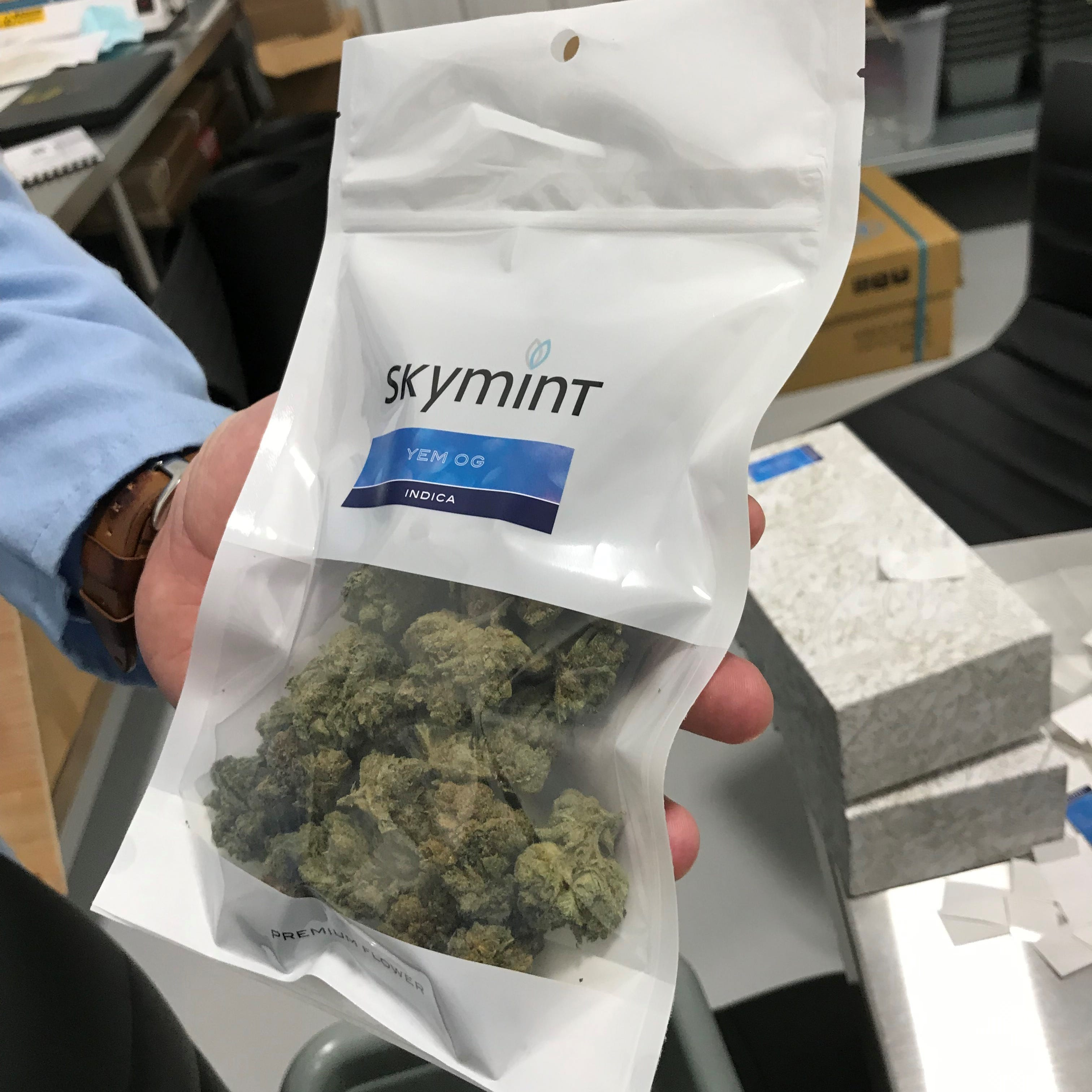 Green Peak Innovations is a facility in Windsor Township, Michigan that grows several different strains of marijuana. It plans to open a chain of Skymint dispensaries in the state.