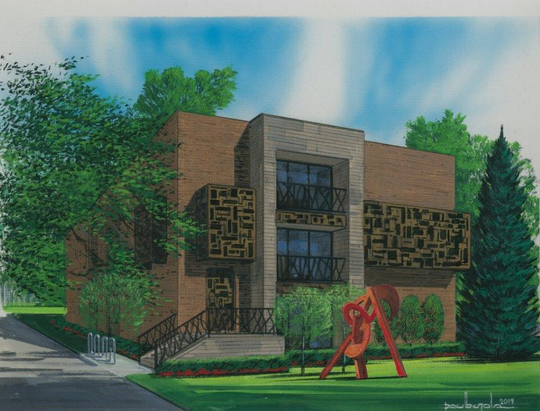 The Lansing region has become a popular place for people who want to invest in marijuana businesses. This is a rendering for a proposed dispensary at 1234 E. Grand River Ave. in East Lansing.