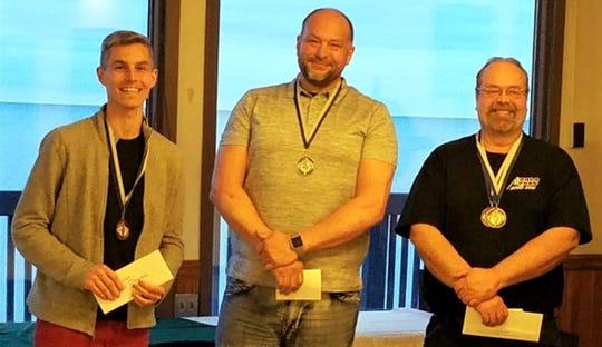 2019 HFM Lean on the Lakeshore men's winners are Greg Jageman, John King and Doug Schultz.