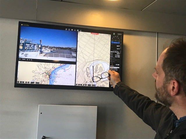Screen shows Lake Express travels