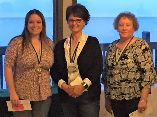 2019 HFM Lean on the Lakeshore women's winners are Patty Basset, Terri Pries and Lisa Voda.