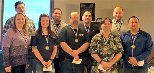 2019 HFM Lean on the Lakeshore large team winner WAFCO (Wisconsin Aluminum Foundry) Team 1: back row, from left: Art Sprague, Andrew Schroeder, Roberto Flores and John King; back row, from left: Brianna Sprague, Kamber Duellman, Douglas Schultz, Travis McBride and Marcos Alfaro; and not pictured: Mark Vohl.