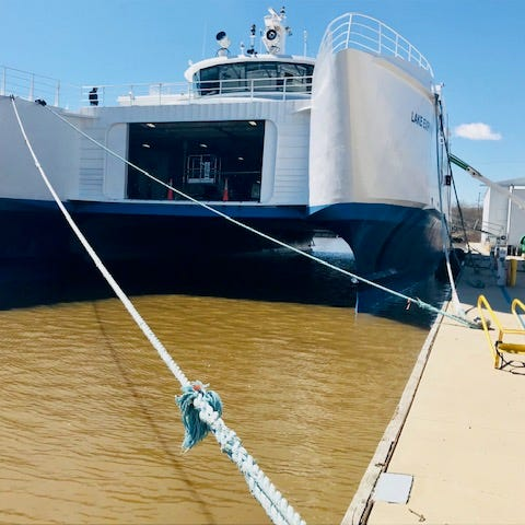 Manitowoc's Burger Boat Company helps overhaul popular Lake Express car ferry