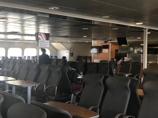 Passenger seats of Lake Express