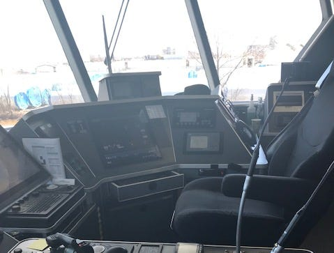 Captain's chair aboard Lake Express